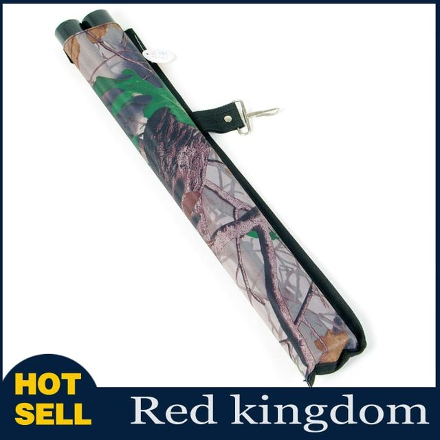Two Tube Arrow Holder Quiver Canvas with Clip Camo Archery Practice Waist of Sports Bow Hunting Accessory