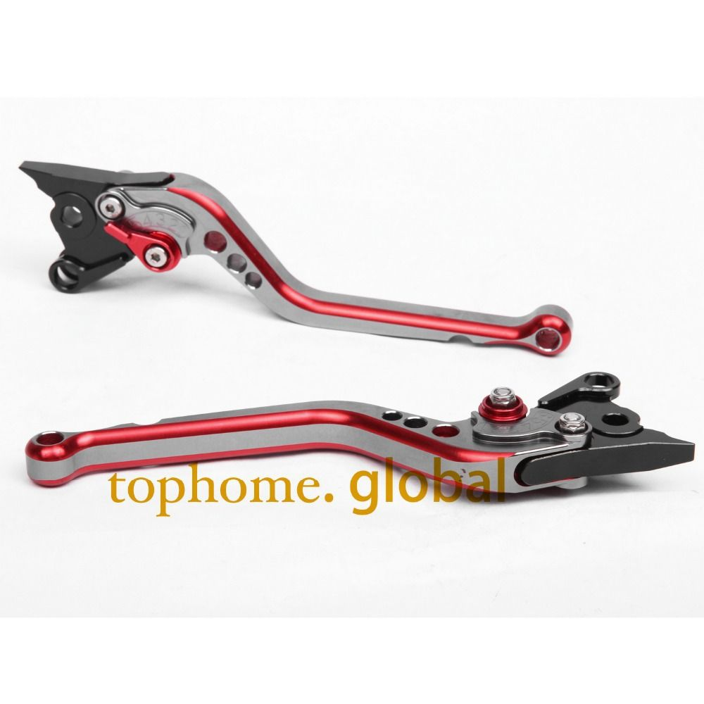 CNC Motorcycles Brake Clutch Levers Regular size Mixed Titanium&Red Color For Ducati S2R 1000 2006-2007 2008