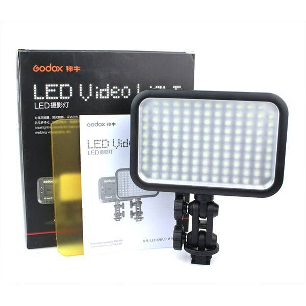 Godox LED 126 Video Lamp Light for Digital Camera Camcorder DV Wedding Videography Photo journalistic Video Shooting