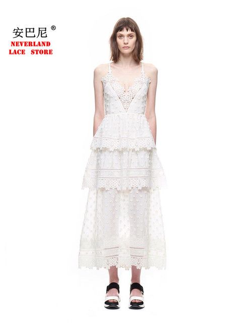 High-end custom self portrait 2017 New arrive fashion runway  Lace embroidery sexy backless condole belt party