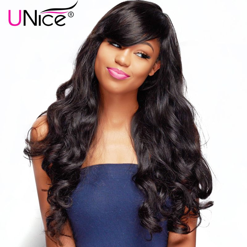 UNice Hair Peruvian Virgin Hair Body Wave Weave Unprocessed Human Hair Bundles 1 Piece Natural Color Hair Extensions 8-30inch