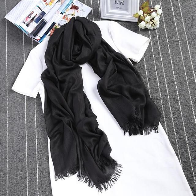 2016 luxury brand scarf female Cashmere flesh colour elegant shawl 110x190cm solid smooth pashmina autumn winter scarf for women