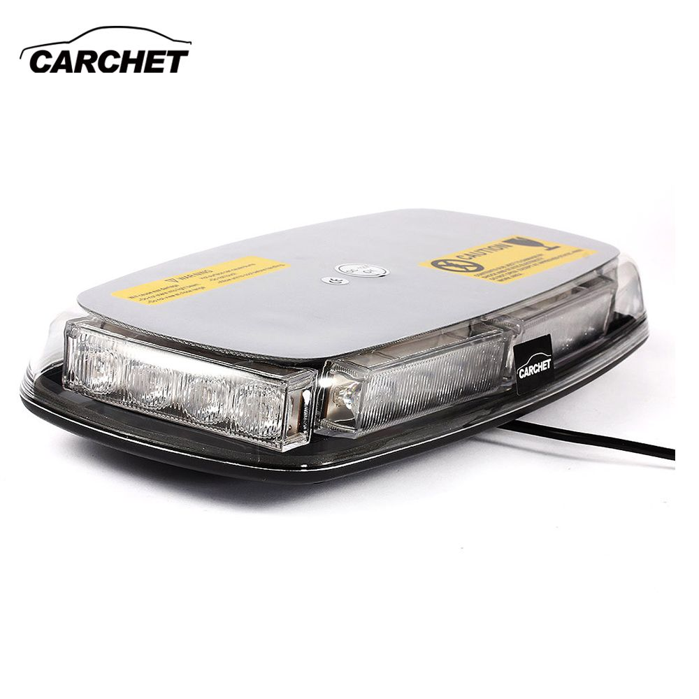 CARCHET Vehicle Car Roof Lights 20W Top Yellow 24 LED Emergency Warning Strobe Light Lamp Magnetic Base Strobe Light 2017 NEW
