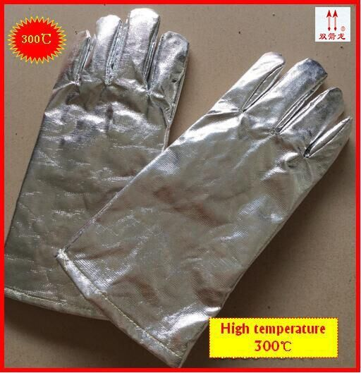 Industrial Flame Radiation High Temperature Resistant Aluminum Foil Gloves Heat Insulation Gloves Fire Resistant Safety Gloves