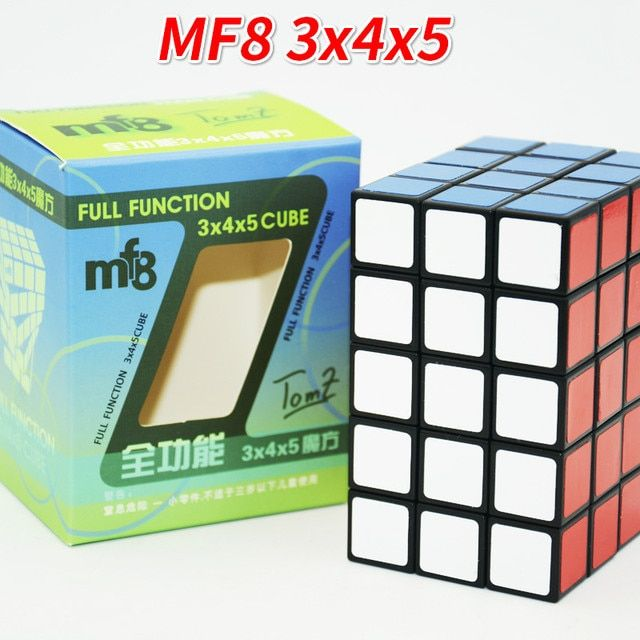 New MF8 3x4x5 Cube 345 Black TomZ & MF8 Full Function Plastic Puzzle Magic Cube Twist Toy 3*4*5 Cube