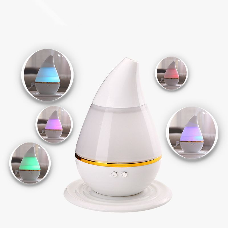 Car water droplets type Mini USB humidifier Car aromatherapy atomizer Air Freshener white Seven color Changes Humidifying
