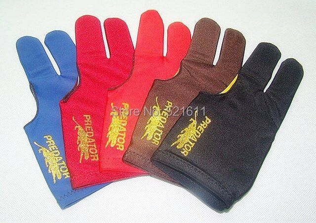Free shipping 6pcs/lot high Elasticity 3 finger billiard gloves/Pool Table Snooker billiard table Gloves