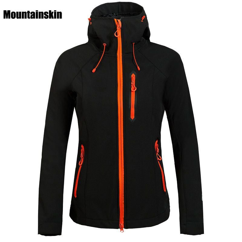 Mountainskin Women Winter Fleece Softshell Jacket Outdoor Waterproof Coat Hiking Ski Trekking Camping Female Windbreakers VB027