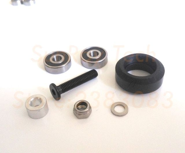 Solid wheel Kit CNC machined for VSlot rail OX CNC solid 25sets Free shipping