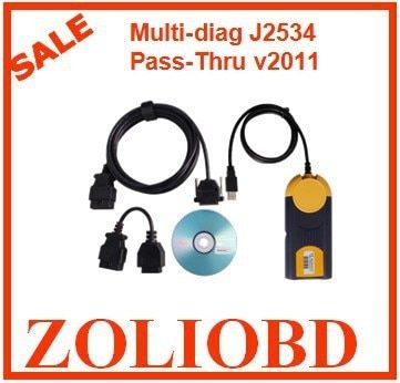 2017 New released  2011 version diagnostic MultiDiag Access J2534 Pass thru Multi-Diag Multi Diag v2011 with Fast Free Shipping