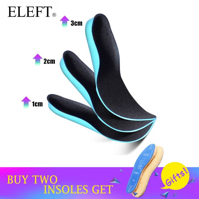 ELEFT EVA height increased insoles Soles for shoes insole Plantar fasciitis foot Massage shoe sole pads inserts accessories