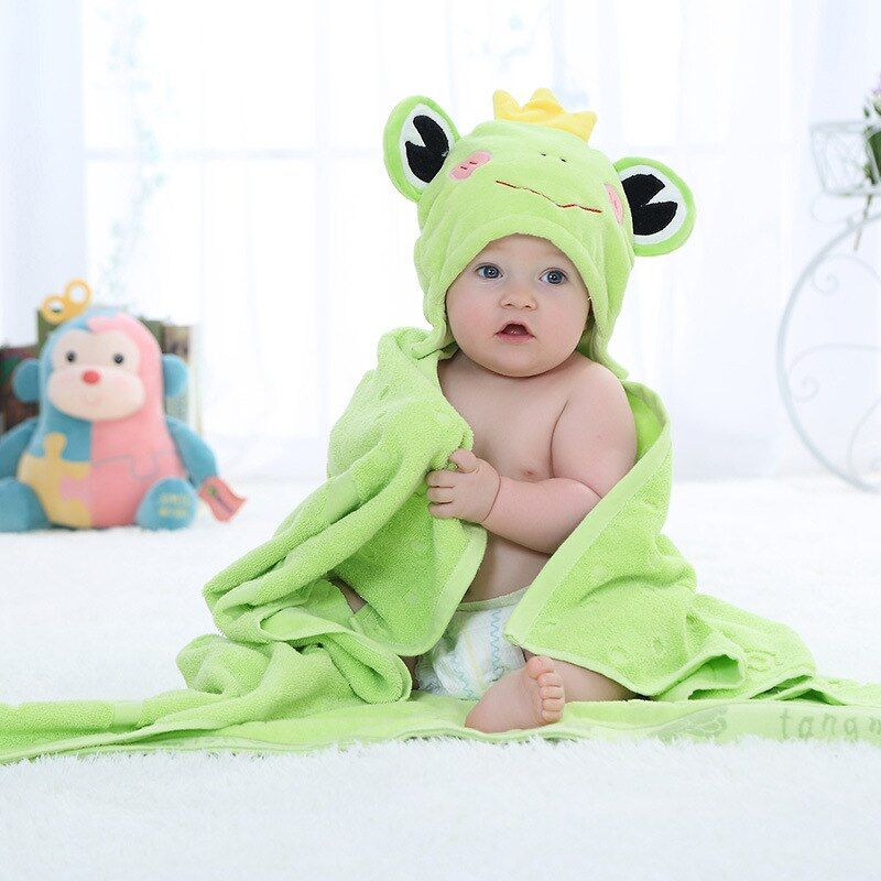 Cute Animal Cotton Cartoon Baby Kid's Hooded Bath Towel Toddler Blankets/baby bathrobe/infant beach towels 100X100cm