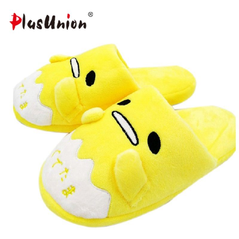 anime home indoor slippers plush embroidered winter flock furry fluffy for women shoes rihanna house slipper unisex cartoon