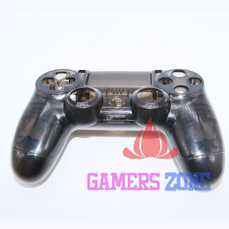 Clear Black Housing Case for PS4 Controller Transparent Black Shell Case Cover for Playstation 4 Game Pad Replacment