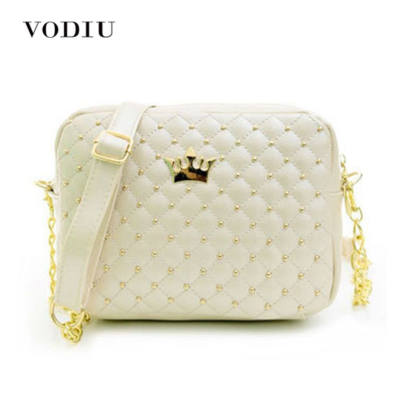 2017 Women Handbags Fashion Women Messenger Rivet Chain Shoulder Bag High Quality PU Leather Crossbody Small Flap Female  Bags