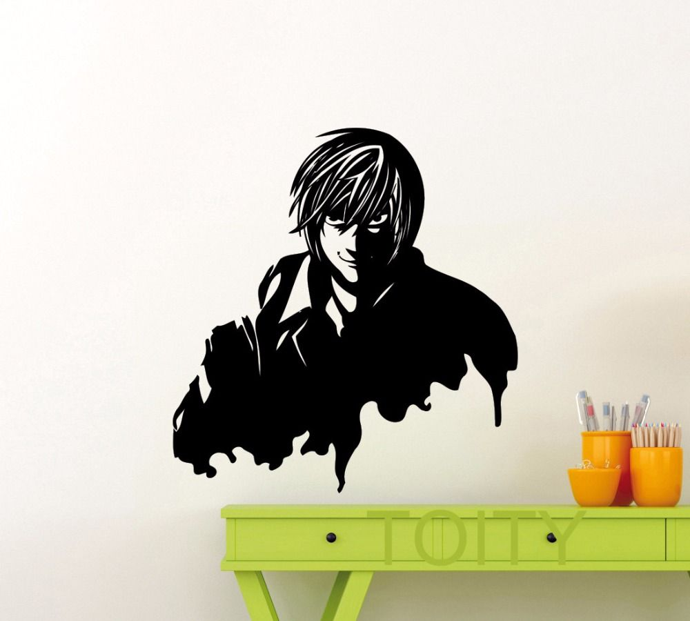 Light Yagami Wall Sticker Kira Death Note Anime Vinyl Decal Home Room Interior Decor Japan Comics Art Mural