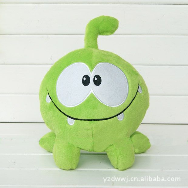 30cm Om Nom Frog Plush Cut The Rope Soft Rubber Cut The Rope Figure Classic Toys Game