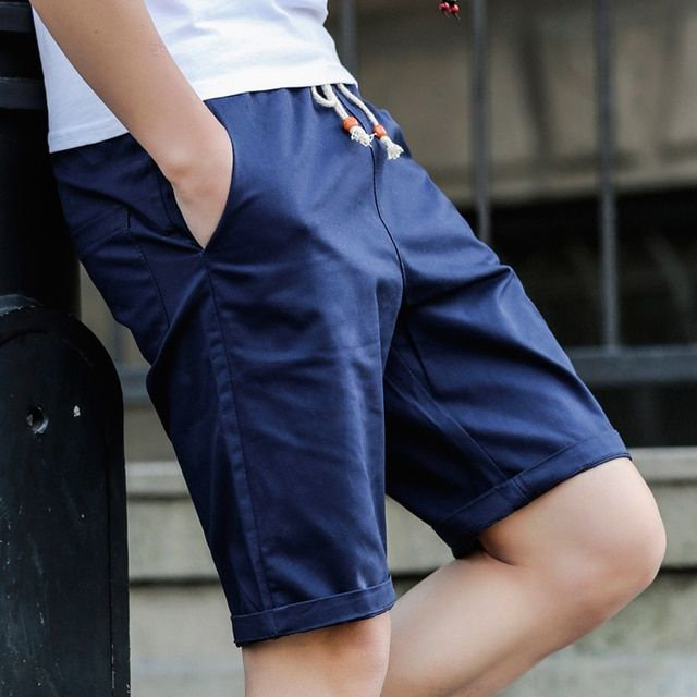 Hot 2017 Summer New fashion men's Shorts Men casual Shorts cotton Men solid color Short pants beach Size M - 5XL
