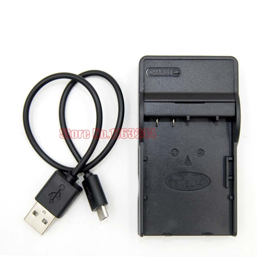 Battery Charger for Nikon EN-EL14 ENEL14 MH-24 MH24 D3100 D3200 D5100 D5200 CoolPix P7000 P7100 P7700 P7800 D5500