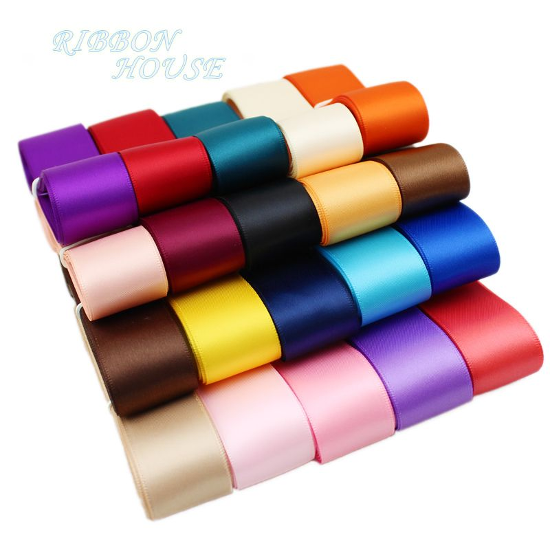 "(5 meters/lot) 1"" (25mm) High Quality Double Face Satin ribbon polyester wholesale Christmas Ribbons"