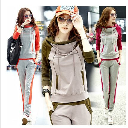 New female sportswear leisure suit autumn sweatershirts female models long-sleeved women's two-piece track suit