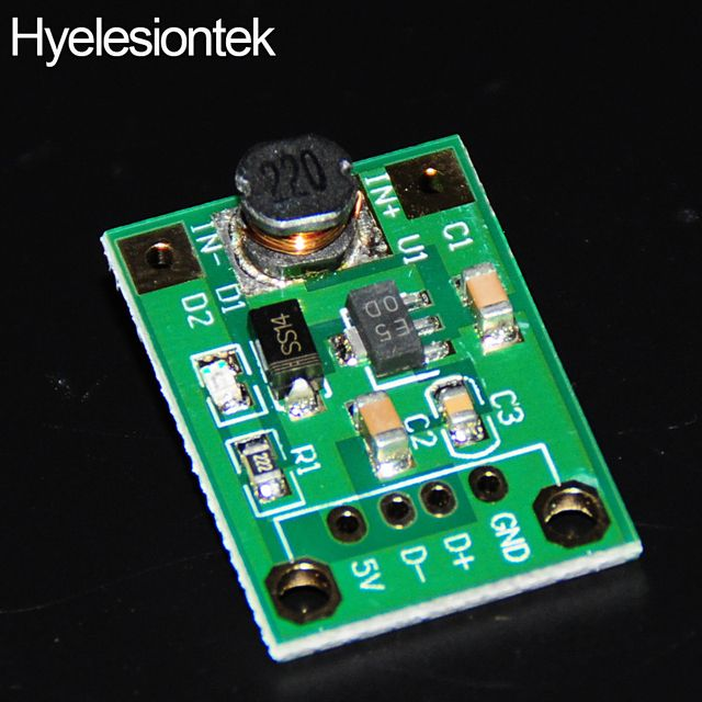 5V DC DC Converter Step Up Power Supply DC-DC Booster Boost Adapter Converter Board Step-Up 500MA Voltage Regulator 1V-5V to 5V