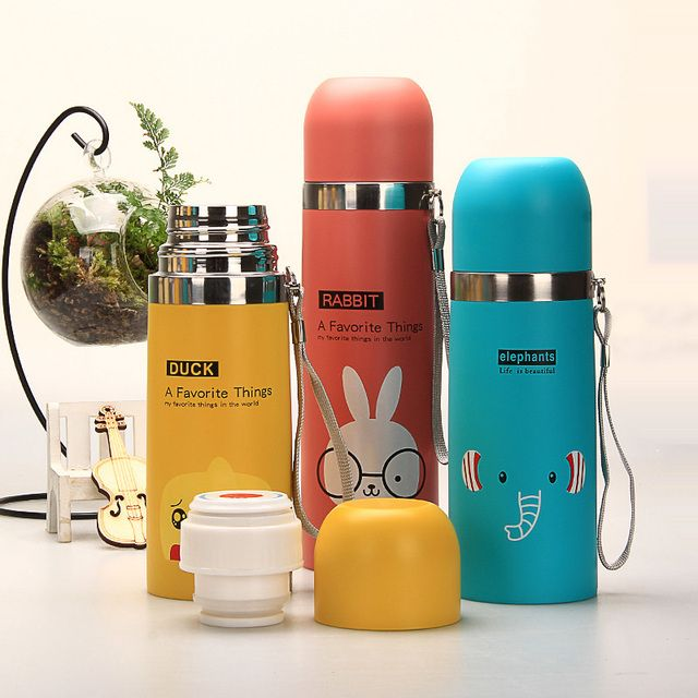 HOT Thermos Water Bottle 500ml Garrafa Stainless Steel Termica Inox Travel Cup Copo Termico Mug Caneca Termica Caixa Thermosfles