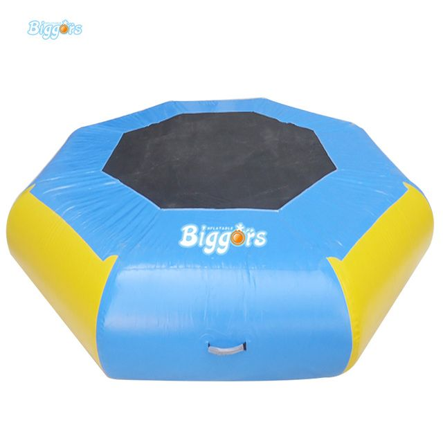 Swim Float Platform Inflatable Bouncer Water Trampoline For Water Park