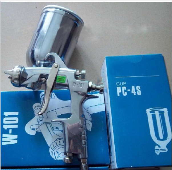 Janpan W-101 Spray Gun HVLP Manual Paint Gun Gravity Type 1.0/1.3/1.5/1.8mm 400ml PC-4S CUP Furniture Car Coating Painting