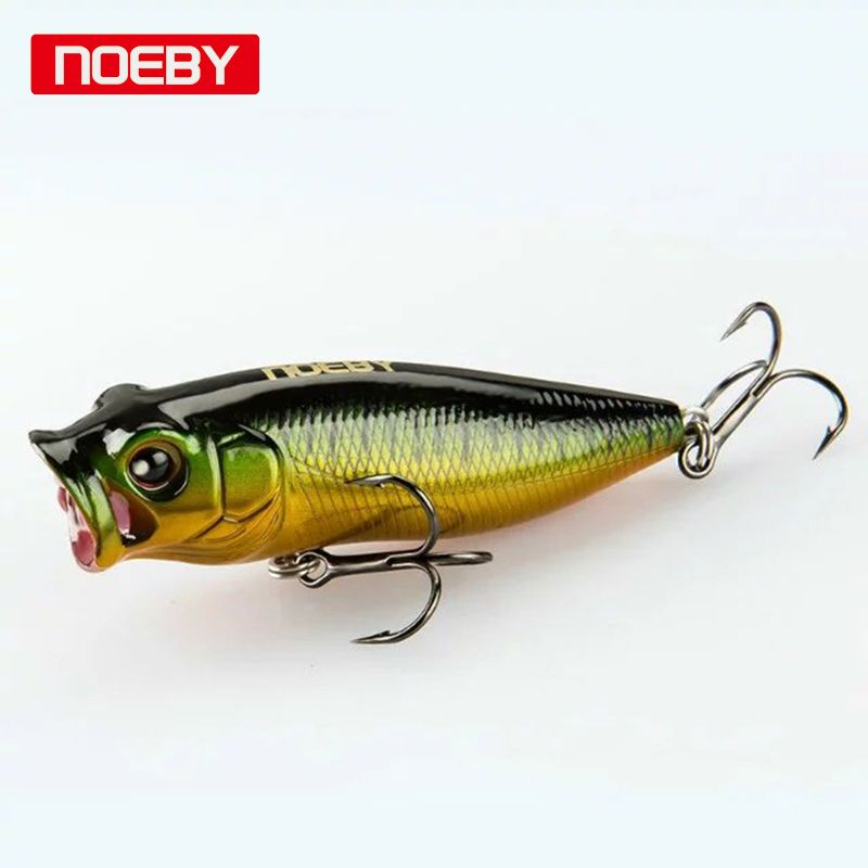 Noeby 2pcs 35m/2.5g  Poppers Fishing Lure Topwater Lure jerkbait Sea Fishing Tackle Hard Lure Bait Jig Wobblers