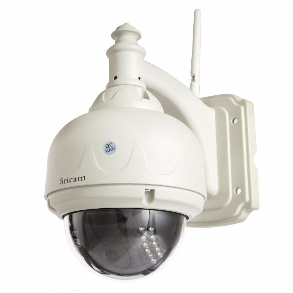 Sricam  HD 720P waterproof ip wifi wireless outdoor camera surveillance Pan Tilt P2P  H.264 CCTV network camera IR Cut