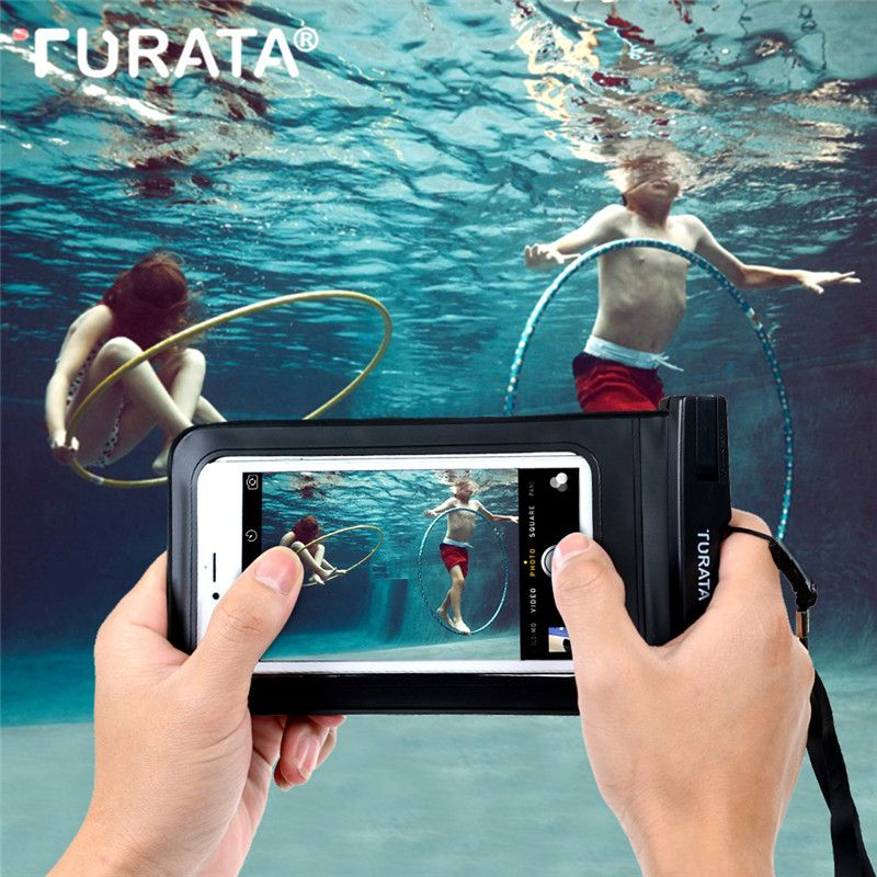 Turata IPX8 Waterproof Case Cover For iPhone 4S 5 5S 6 6S 7 Plus For Samsung Galaxy S5 S6 S7 S8 Edge Mobile Phone Bag Up to 6.0""