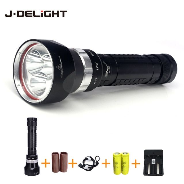 Waterproof Light for Diving 3 x xml L2 led Super Bright 6000 Lumen Underwater Lamp Torch Optional 26650 Battery Accessories