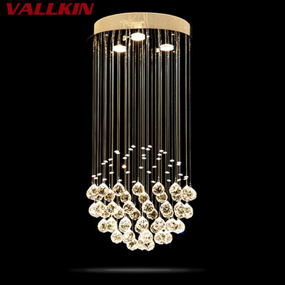 New Style Crystal Chandelier Lighting Fixtures Luxury Round Crystal Lustres de Cristal Living Room Chandeliers Lights  LED Lamp