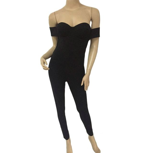 Black strapless new design sexy fashion jumpsuits women rompers playsuits