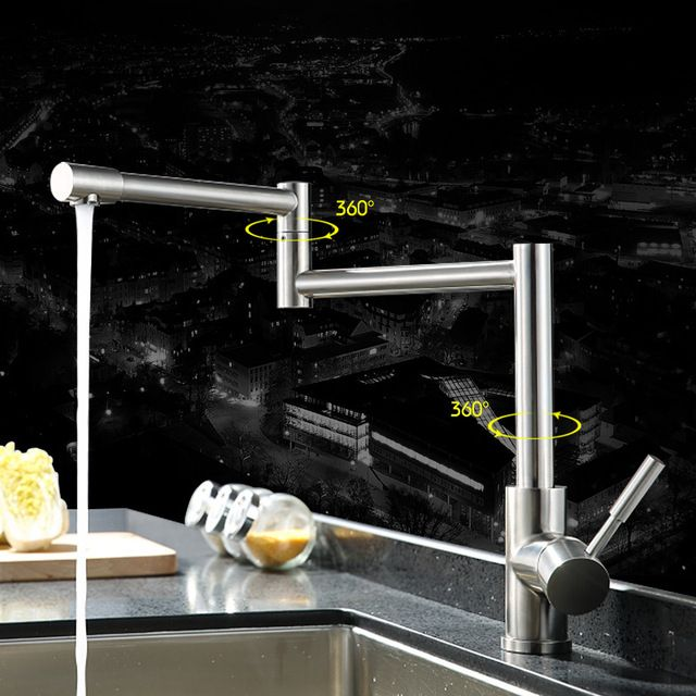 304 Stainless Steel Kitchen Sink Hot And Cold Water Swivel