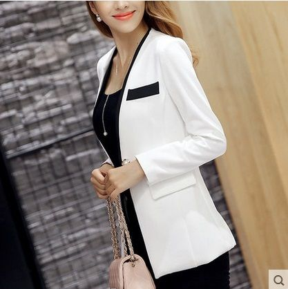 2016 new arrive  Women Slim Suit Blazer Coat Female Jacket Long Sleeve One Button Plus Size pink Blazers Solid Work Wear S-XXL