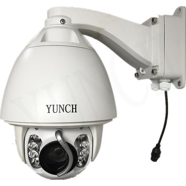 YUNCH HD 1080P  PTZ Camera 20x optical zoom Security cctv ip camera system free shipping with wiper optional POE