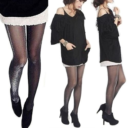 Fashion Design Shiny Pantyhose Glitter Stockings Womens Glossy Tights  Retail/Wholesale  6DMN
