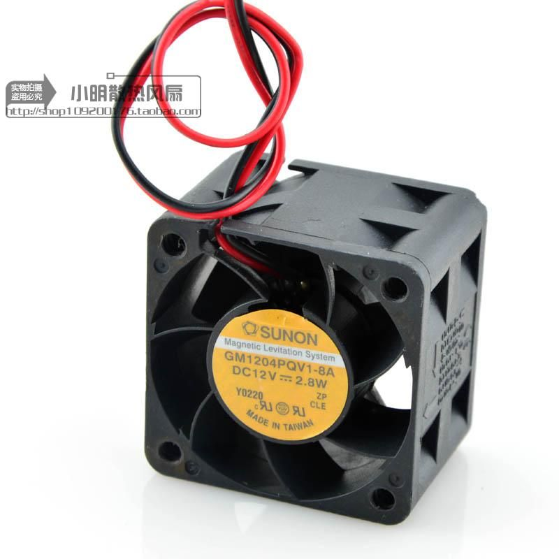 AVC Free Shipping For SUNON GM1204PQV1-8A DC 12V 2.8W 2-wire 40mm 40x40x28mm Server Square fan