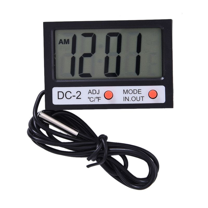 Electronic New Thermostat Tester Indoor Outdoor Instrument Termometro Clock Mini LCD Display Digital Room Thermometer