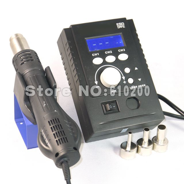 220V 700W Portable ESD Soldering Station BGA rework station LED Digital Intelligent Hot Air Gun FOR  Yihua 8858 Saike 8858 858
