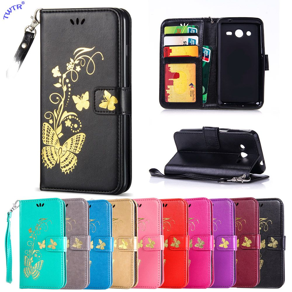 Case For Samsung Galaxy Core2 Core 2 G355H DS G355HDS G355M SM-G355H SM-G355M SM-G355h/ds Duos Flip Phone Leather Cover