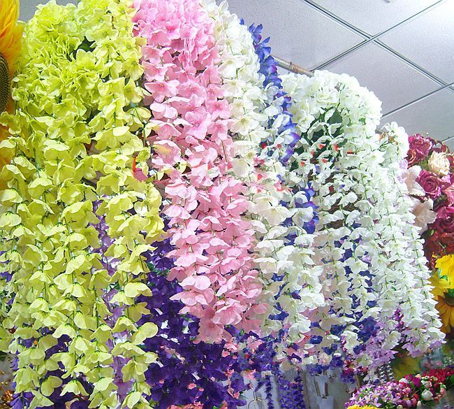 Artificial Flowers Wall guelder decoration artificial flower hanging vines flower vine props