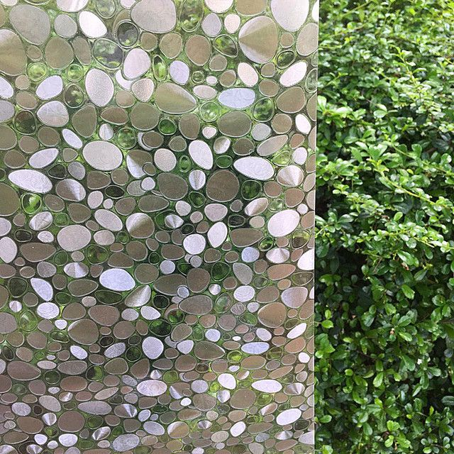 Pebble static glass film without glue window film Art 3D self adhesive window stickers for sliding glass door window