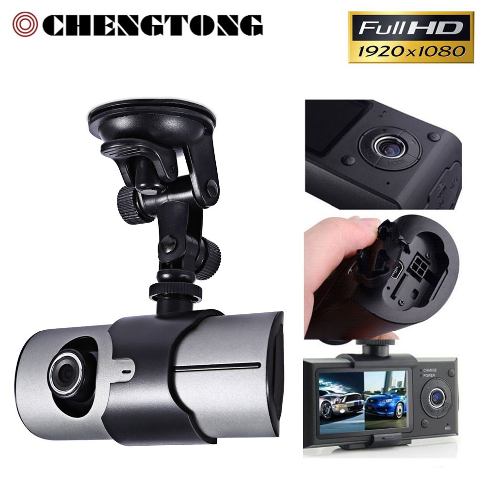 "Dual Lens Camera Car DVR R300 with 3D G-Sensor 2.7"" TFT LCD X3000 Cam Video Camcorder Cycle Recording Digital Zoom x CD014"