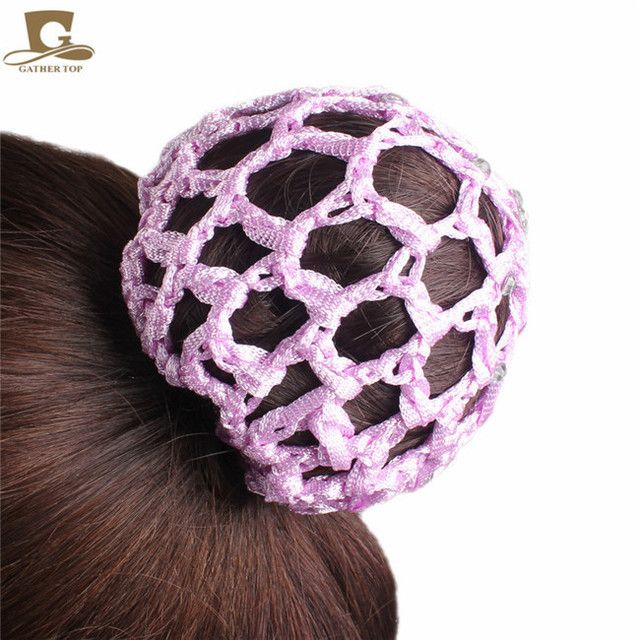 crochet hair snood bun cover hairnet Ballet Dance Skating Mesh Bun Cover