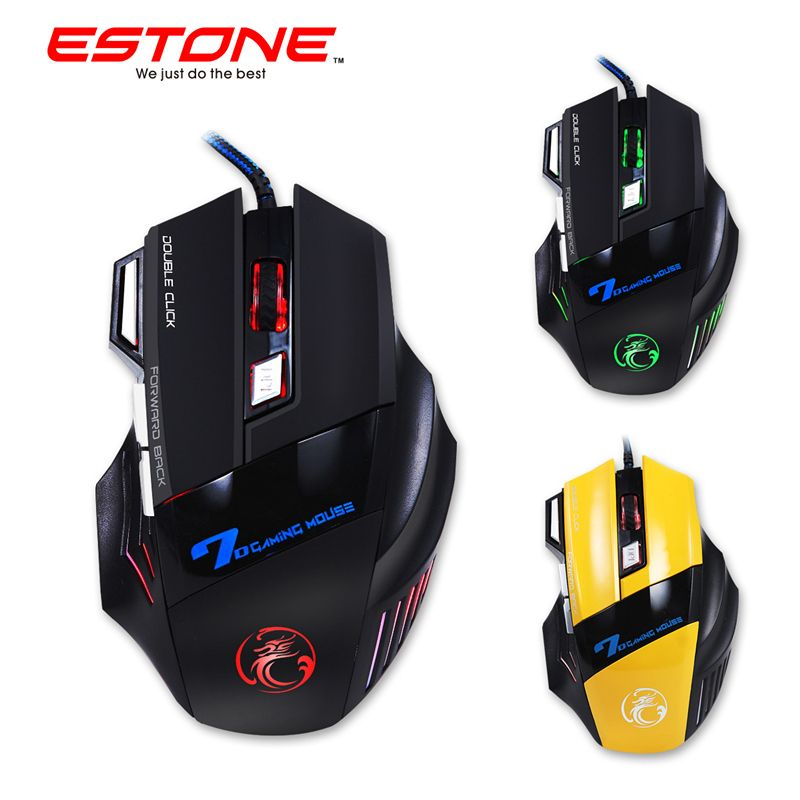 Original iMice X7 Professional Mice 7 Buttons Gaming Mouse Optical USB Wired Computer Notebook Mouse 7 Color Light Modes