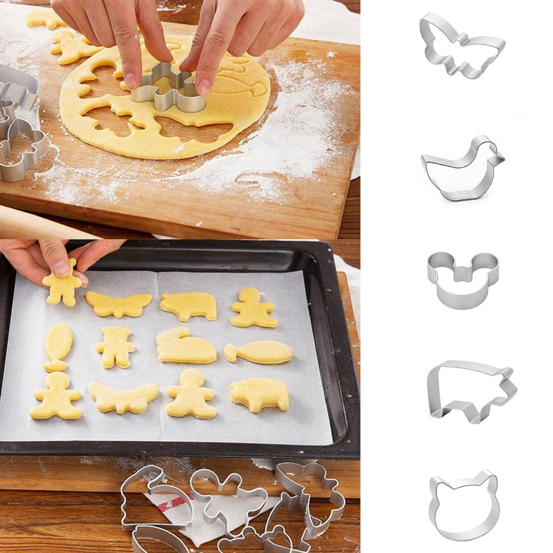 Beatiful 1Pcs/set  DIY Cake cutting Aluminium Alloy Gingerbread Men Shaped Holiday Biscuit Mold Kitchen cake Decorating Tools
