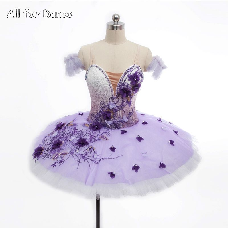 Customer Size Made Purple Gradient Color Professional Dance Pancake Tutu For Girl/Women Ballet Competition/Grading Dance